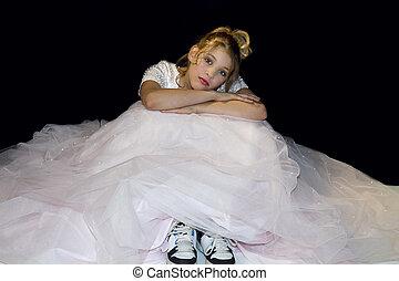 Dreaming Girl In Prom Dress