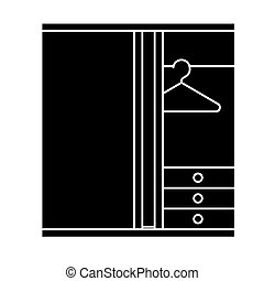 dressing room icon, vector illustration, sign on isolated background