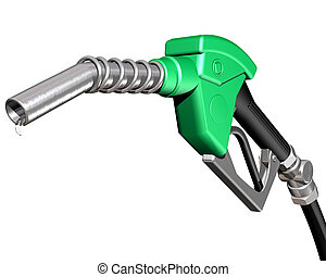 Isolated illustration of a dripping gas pump nozzle