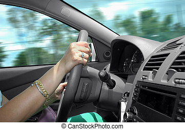 Driving a car with speed