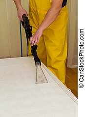 dry cleaning of a mattress
