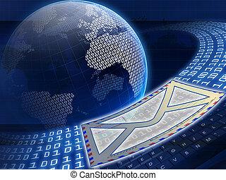 Digital globe and e-mail