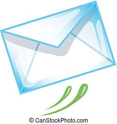 Stylized e-mail icon or symbol