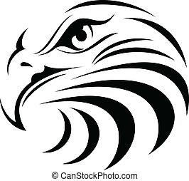 Illustration of Eagle face silhouette