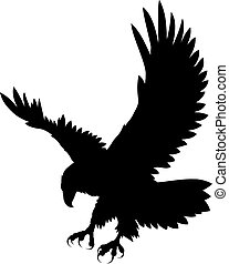 Abstract vector illustration of eagle