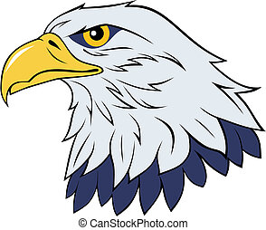 Color vector illustration of eagle head