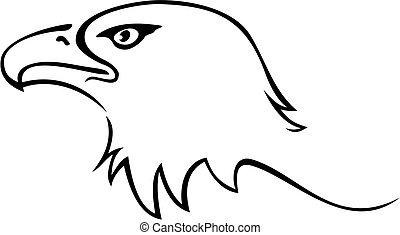 Illustration of eagle head isolated on white background