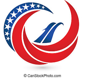 Eagle USA flag vector symbol