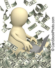 Conceptual image - earnings in the Internet