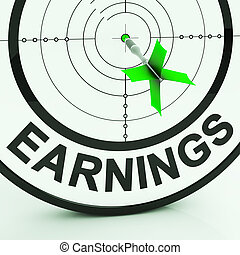 Earnings Showing Money From Employment Profit Dividends And Income
