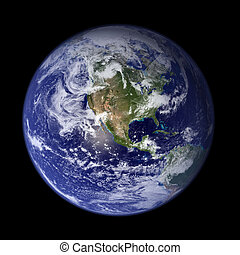 Earth from outer space - America