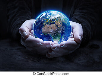 earth in hands - environment