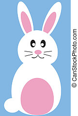 Cute isolated easter bunny rabbit