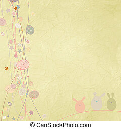 Easter card with copy space. EPS 8