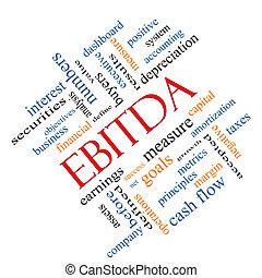 EBITDA Word Cloud Angled Concept