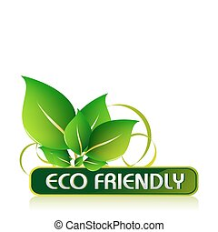 illustration of icon for eco friendly on isolated white background