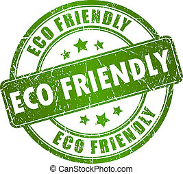 Eco friendly vector stamp isolated on white