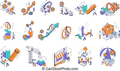 Economic Business Recovery Icons
