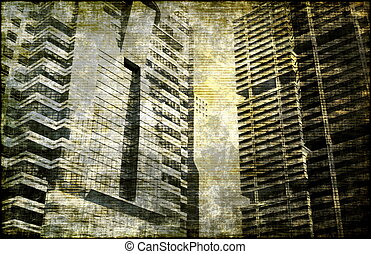 Economic Decline as a Abstract Background Art