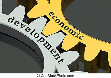 Economic Development concept on the gearwheels