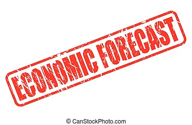 ECONOMIC FORECAST red stamp text