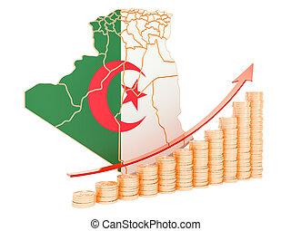 Economic growth in Algeria concept, 3D rendering