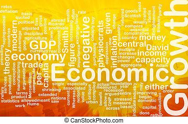 Economic growth is bone background concept