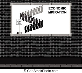 Economic migration advertising boar