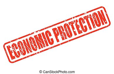 ECONOMIC PROTECTION red stamp text