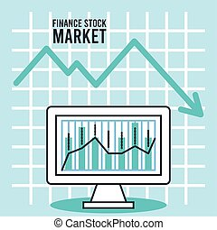 economic recession infographic with desktop