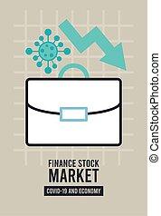 economic recession infographic with portfolio