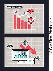 economic recession infographic with statistics