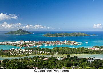 "New project ""Eden Island"" in the Seychelles, near Victoria, Mahe."