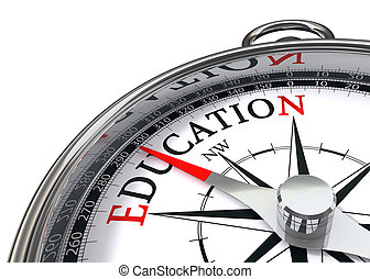 the way to education indicated by concept compass