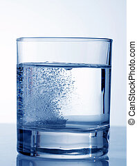 Effervescent tablet in water