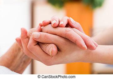 Elderly patient in need