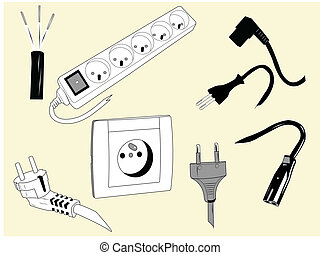 Elements used to plug electric devices.