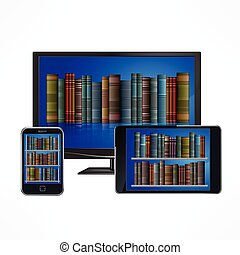 Electronic library devices