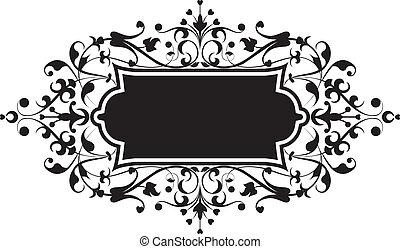Element for design, flowers ornament, illustration.