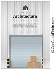 Elements of architecture , factory door background 2