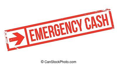 Emergency Cash rubber stamp