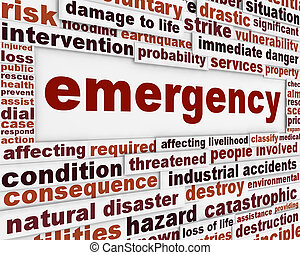 Emergency message conceptual background. Rescue service poster design
