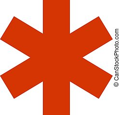 Emergency star - medical symbol vector icon flat isolated