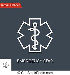 Emergency Star Vector Icon