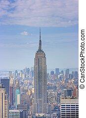 Empire State Building and Manhattan Skyline, New York