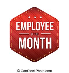 Employee of the Month vector badge