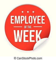 Employee of the Week label sticker