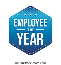 Employee of the Year vector badge