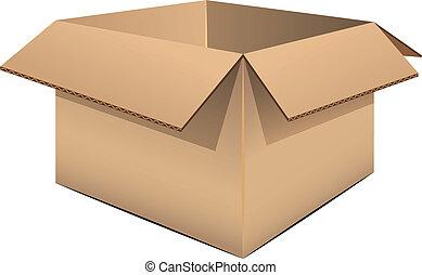 Empty cardboard box over white. EPS 8, AI, JPEG