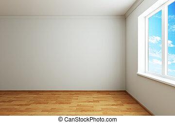 3d rendering the empty room with window
